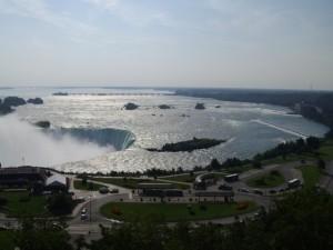 Les chûtes du Niagara depuis la chambre